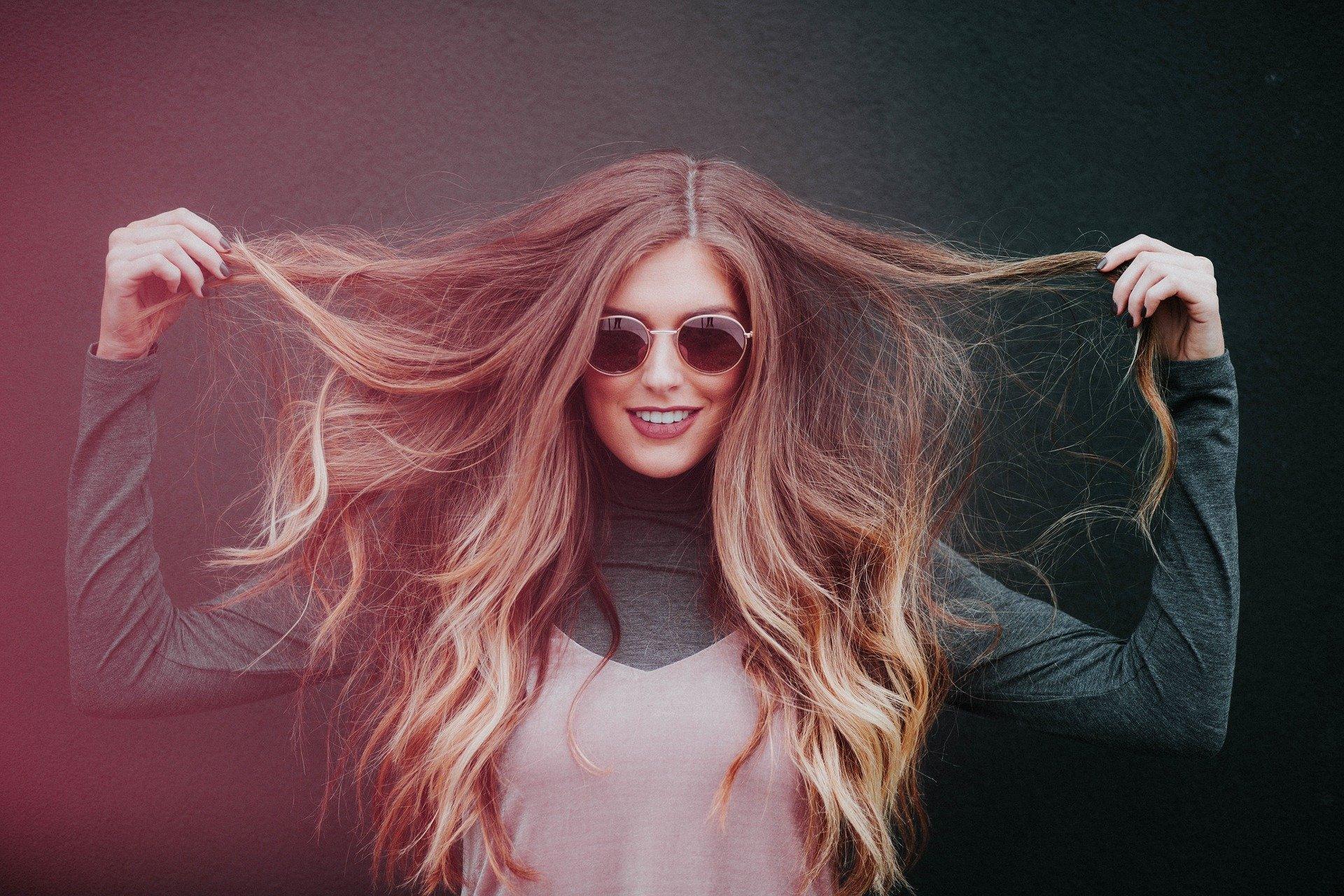 Kvinde langt hår
